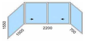 Остекление балконов - алюминий provedal мастер-пласт.